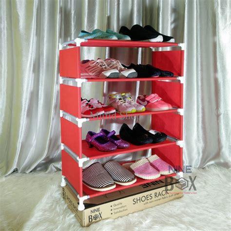 Rak Sepatu 5 Susun jual rak portable nine box serbaguna type w5 rak sepatu 5