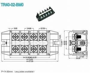 40a high current terminal block 1480mm din rail pcb panel With model railroad wiring terminal blocks
