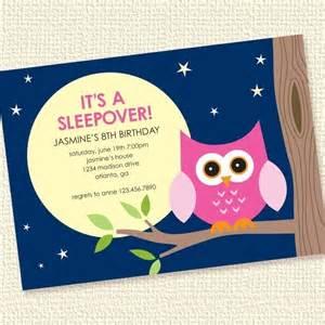 Sleep Over Birthday Party Invitation