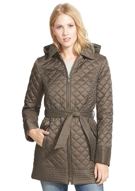laundry by design quilted coat laundry by shelli segal laundry by design belted hooded