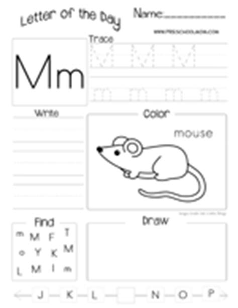 letter m worksheets letter m preschool printables 48896