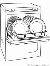 Dishwasher Clipart Clip Coloring Cartoon Pages Flashcards Electronic Devices Colouring Clipground Becuo Drawing Printable Ware Cooking Proprofs Dishwashers Pixels Stove sketch template