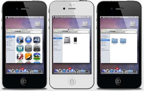 iphone os make iphone s ios look like mac os x