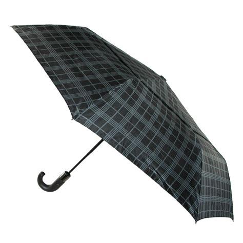 shedrain umbrellas auto open compact umbrella auto open and vented wind resistant plaid print