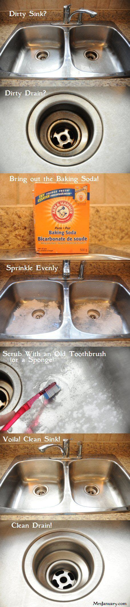 clean sink with baking soda how to shine a stainless steel sink cleaning my entire
