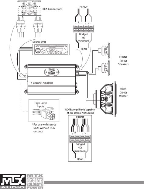 page 8 of mtx audio stereo lifier mxa4002 user guide