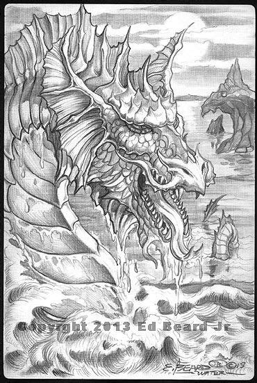 Ed Beard - Gathering 4 | Dragon coloring page, Grayscale coloring, Mandala coloring
