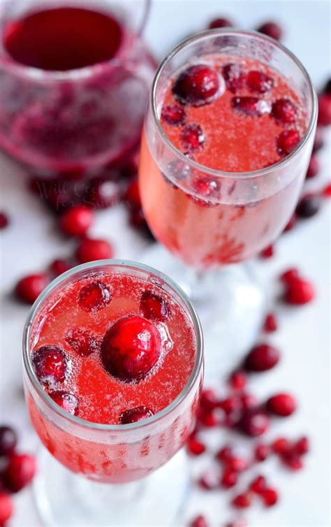 cranberry pomegranate champagne cocktail  cook