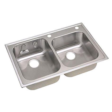 top mount stainless steel kitchen sink elkay 20gauge stainless steel bowl top mount 9487