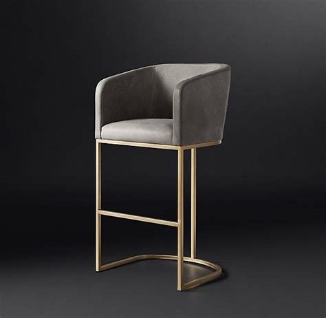 With impeccable, unmissable designs and shapes, a modern stool makes a statement without overpowering the room. Emery Barrelback Leather Stool   Contemporary bar stools ...