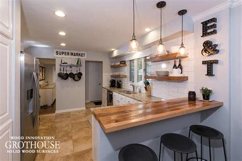 Kitchen Bar by Reclaimed Oak Kitchen Bar Top In Columbus Oh