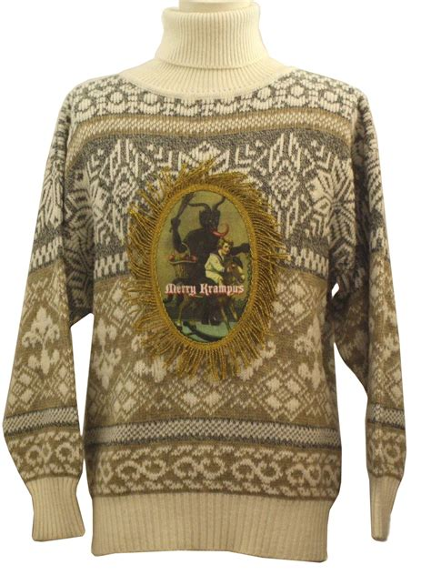 retro  ugly krampus christmas sweater  authentic