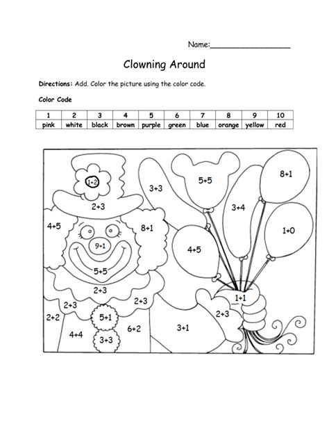 color by number addition worksheets coloring pages math worksheets addition color by