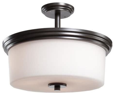 Three Light Polished Nickel Clean Opal White Glass Drum