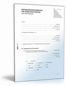 Muster Mietvertrag Kündigen : aufhebungsvereinbarung mietvertrag muster vorlage zum download ~ Watch28wear.com Haus und Dekorationen