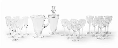 bicchieri lalique servizio di bicchieri tr 232 ves francia manifattura
