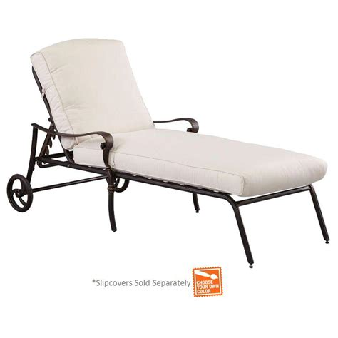 chaise solde hton bay edington cast back adjustable patio chaise