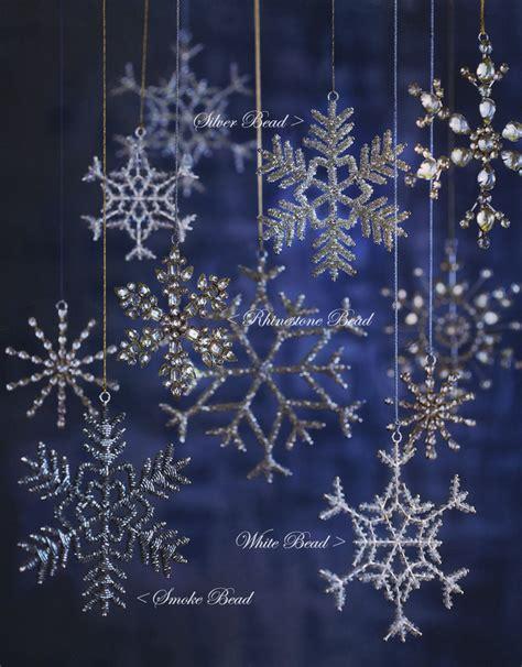 glass snowflake ornaments christmas tree ornament set