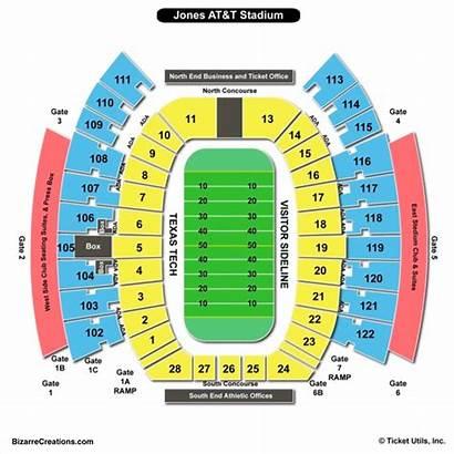 Stadium Seating Chart Jones Football Att Charts