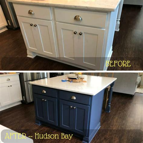 kitchen island  bathroom vanity painted hudson bay blue