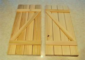 Barn Door Window Shutters