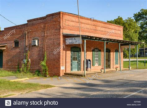 The Small Rural Post Office Building In Matthews, Alabama
