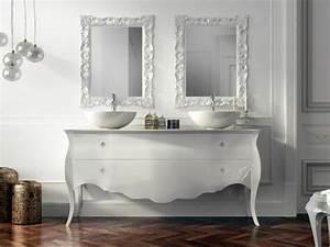 Commode Pour Salle De Bain : le lavabo double vasque pour votre salle de bains ~ Teatrodelosmanantiales.com Idées de Décoration