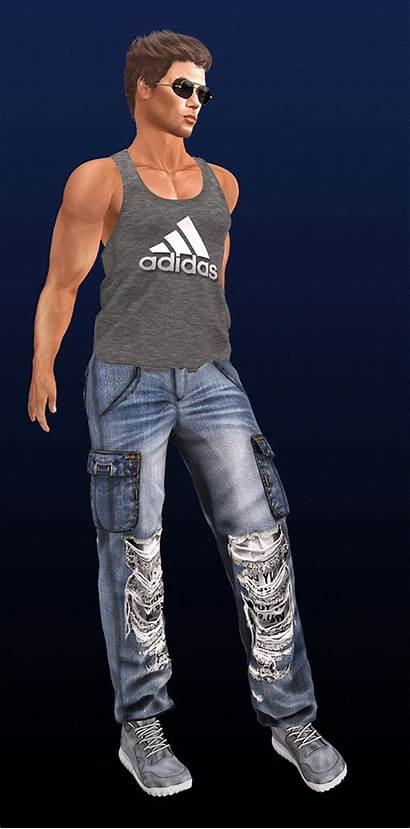 Mesh Marcus Meet Ripped Tank Jeans Come