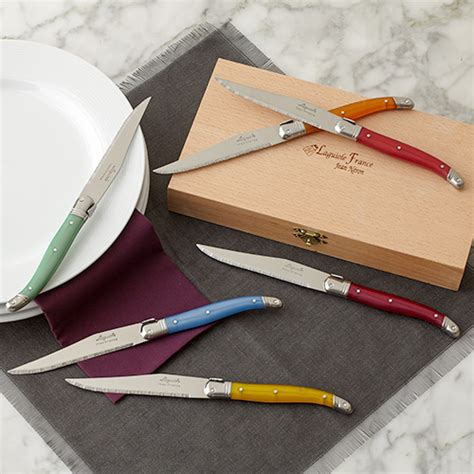 colored knife set colored handle knife set kitchen home stonewall kitchen