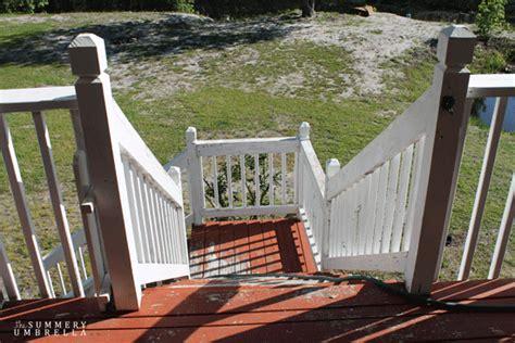 steps  updating  deck  summery umbrella