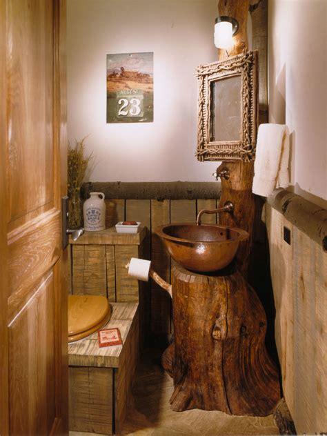 Cool Bathroom Sink cool driftwood mirror look denver rustic powder room