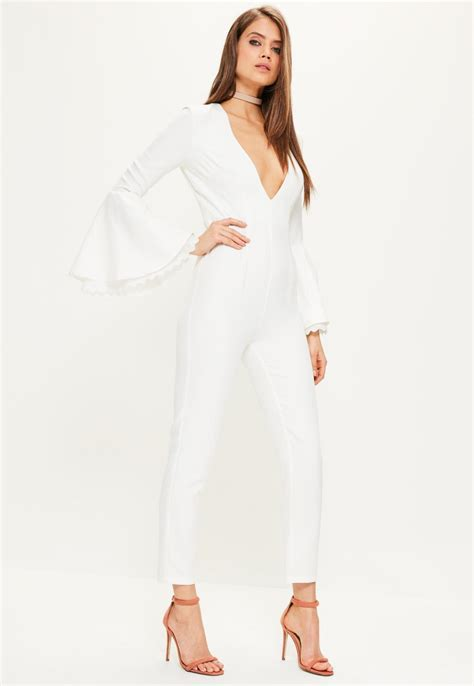 white jumpsuit with sleeves white jumpsuit with sleeves trendy clothes