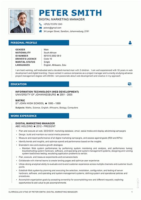 Cv Document Exle by Executive Cv Design 1 Elite Cv Professional Cv Services