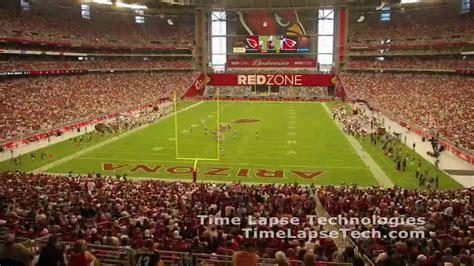 arizona cardinals stadium opening day time lapse youtube