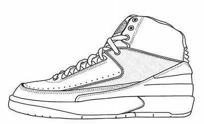 Jordan Coloring Shoes Pages Air Drawing Shoe
