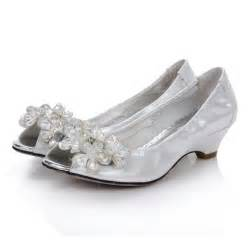 silver shoes for wedding low heel rhinstone platform open toes silver comfortable wedding shoes flowerweddingshoes