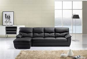 American eagle modern black leather sectional sofa set for Modern sectional sofa in los angeles