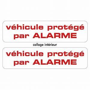 Alarme Voiture Norauto : 2 stickers autocollants prot g par alarme ~ Melissatoandfro.com Idées de Décoration