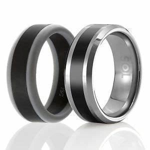 Designed Silicone Rubber Wedding Ring MenTungsten Wedding