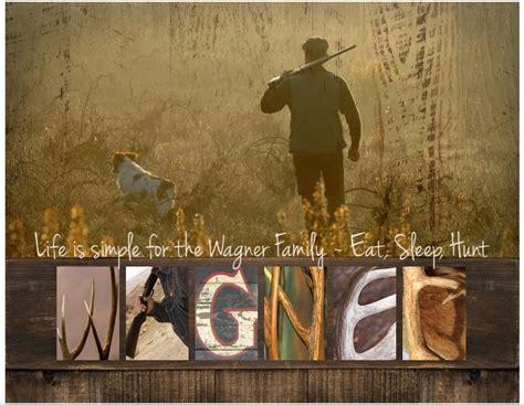 personalized rustic hunter    framed hd letter art