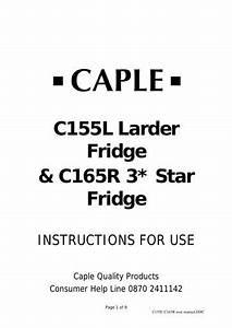 C155l C165r Instruction Manual