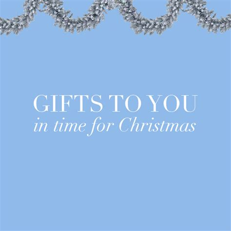 gifts in time for christmas bonjour blue
