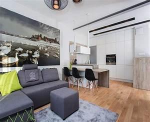 Canape gris moderne 55 modeles dangle ou droits fonces for Tapis de sol avec canapé 2 places avec repose pieds
