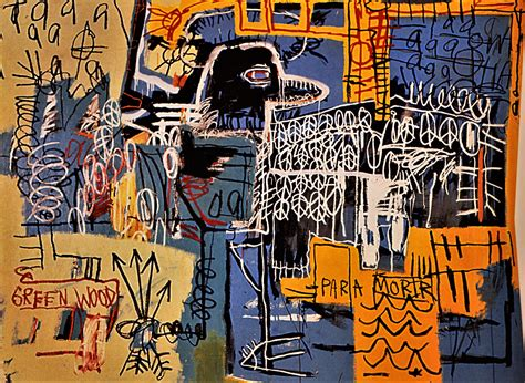 creative paintings on canvas jean michel basquiat poverty and power scrawled on walls