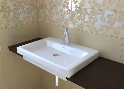 duravit 2nd floor pedestal sink 3d model sink duravit 2nd floor for free on