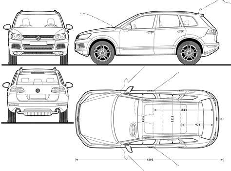 volkswagen touareg dimensions   cars