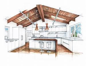 Interior Design Sketches on Pinterest