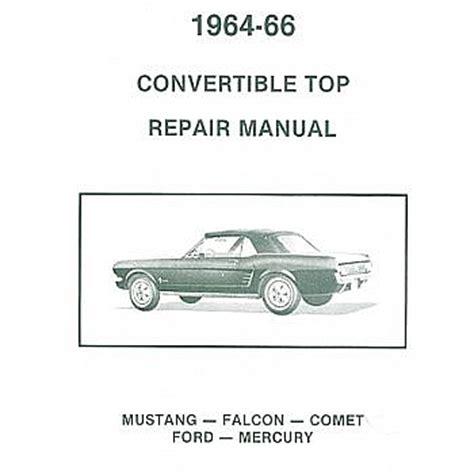 Convertible Top Repair Manuals
