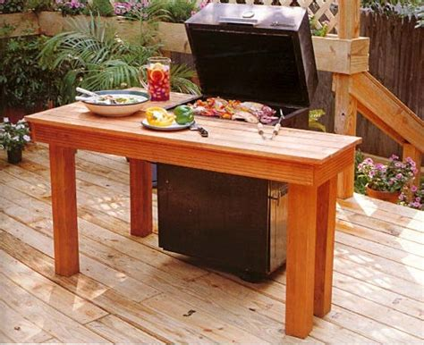 barbecue surround table outdoor wood plans
