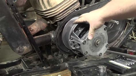 polaris trailblazer  primary clutch removal youtube